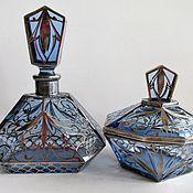 Винтаж handmade. Livemaster - original item Antique Perfume Bottle Jewelry Box Silver Art Deco. Handmade.