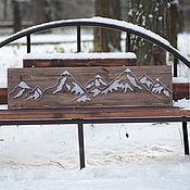 """Картины и панно ручной работы. Ярмарка Мастеров - ручная работа """"Горы"""" в технике String Art. Handmade."""