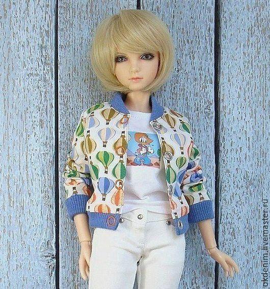 Одежда для кукол ручной работы. Ярмарка Мастеров - ручная работа. Купить Одежда для кукол БЖД  Куртка бомбер джинсы футболка. Handmade.