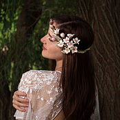 Украшения handmade. Livemaster - original item Wreath with silk cherry blossoms. Handmade.