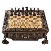 Активный отдых и развлечения handmade. Livemaster - original item Carved chess
