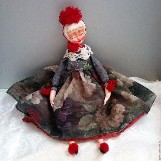 Коллекционные куклы ручной работы. Ярмарка Мастеров - ручная работа. Купить Марлен. Handmade. Ярко-красный, подвижная кукла