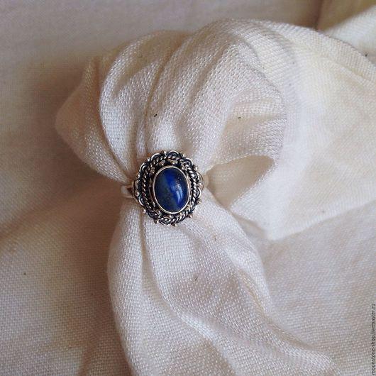 """Кольца ручной работы. Ярмарка Мастеров - ручная работа. Купить Кольцо """"Винтаж"""" с лазуритом. Handmade. Синий, кольцо с лазуритом"""