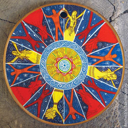 Открытки на все случаи жизни ручной работы. Ярмарка Мастеров - ручная работа. Купить Открытка Мир вокруг похож на круг. Handmade.