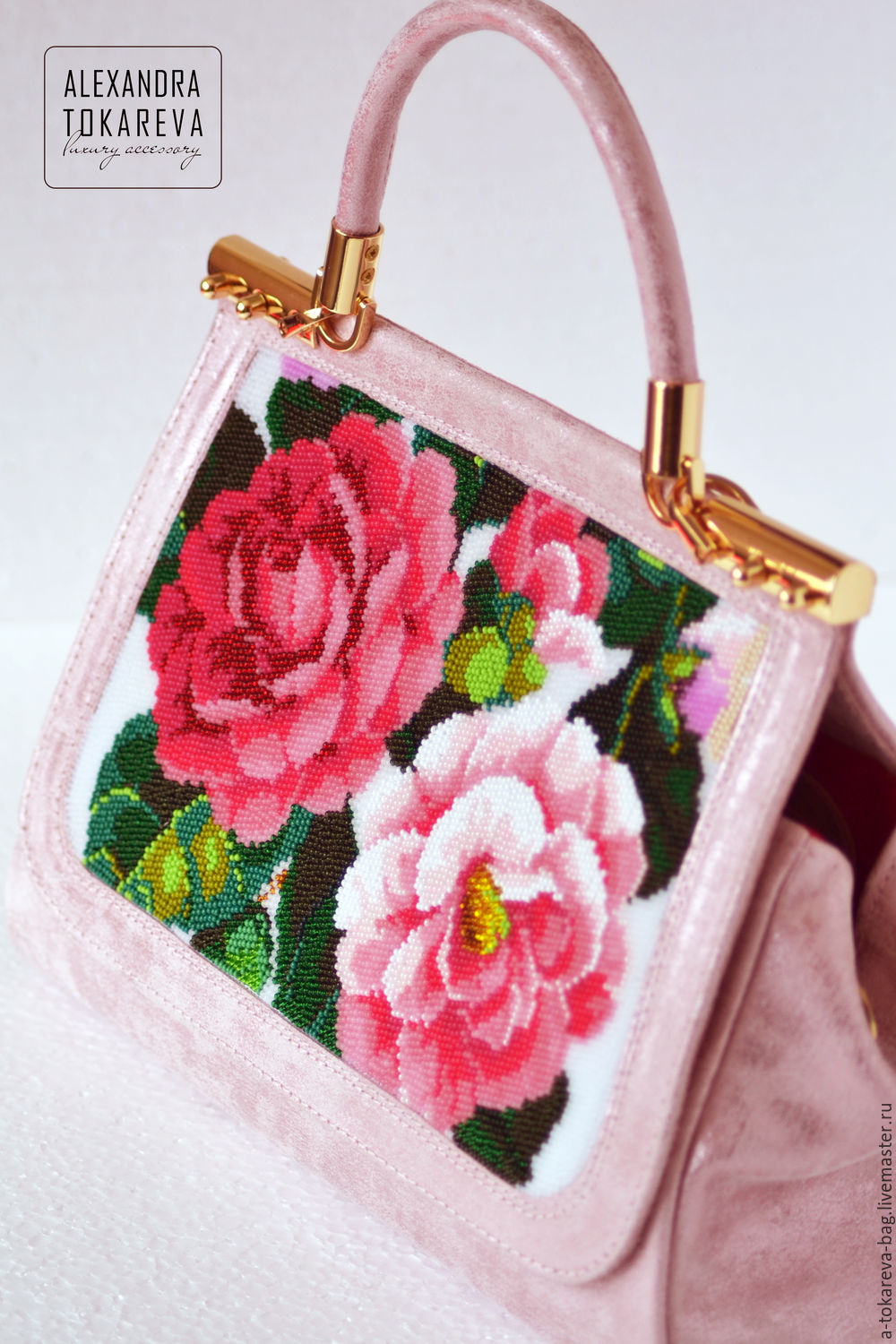 An exclusive designer bag beaded embroidered 'Pink dream', Classic Bag, Moscow,  Фото №1