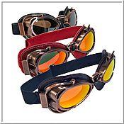 Аксессуары handmade. Livemaster - original item Steampunk Glasses Red, Blue, Black .... Handmade.