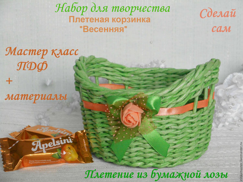 Материалы для плетения корзинки