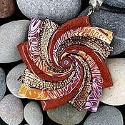 Украшения handmade. Livemaster - original item Pendant from polymer clay Spiral star. Copper ordering. Handmade.