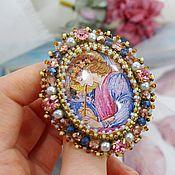 Украшения handmade. Livemaster - original item Brooch Order with Angel beaded embroidery. Handmade.