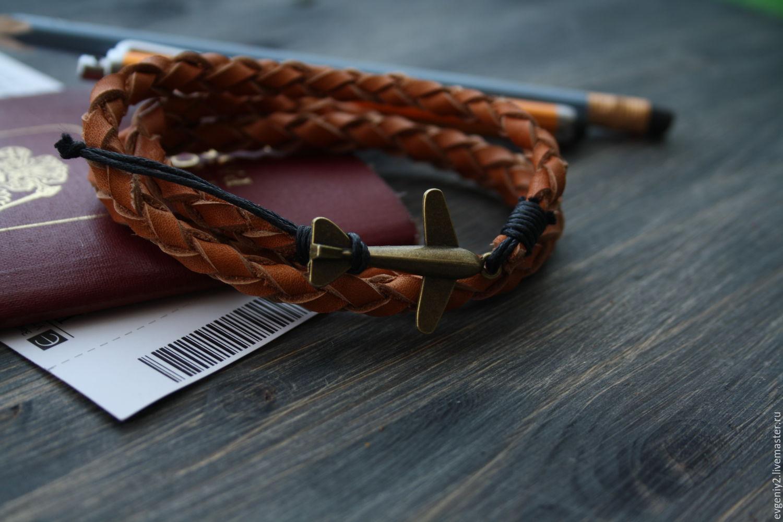 leather bracelet, Bead bracelet, Volgograd,  Фото №1