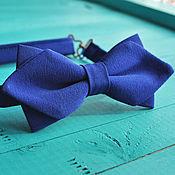 handmade. Livemaster - original item Blue tie Mod / bow tie bright blue original. Handmade.