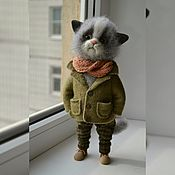 Куклы и игрушки ручной работы. Ярмарка Мастеров - ручная работа кот -босс. Handmade.