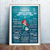 Подарки к праздникам handmade. Livemaster - original item Achievement poster