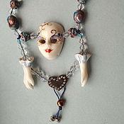 Украшения handmade. Livemaster - original item Mask.Necklace porcelain. Handmade.