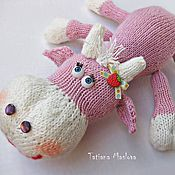 Куклы и игрушки ручной работы. Ярмарка Мастеров - ручная работа Вязаная корова Милка. Handmade.