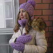 Шапка Сиреневая тайна,шапка вязаная,шапка женская,купить шапку
