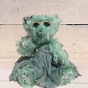 Куклы и игрушки ручной работы. Ярмарка Мастеров - ручная работа Мохеровая мишка-девочка Мята. Handmade.