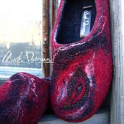 """Обувь ручной работы. Ярмарка Мастеров - ручная работа Валяные тапочки """" Жар-птица """". Handmade."""