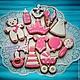 Кулинарные сувениры ручной работы. Пряники на день рождения малыша. Имбирные пряники от Татьяны. Интернет-магазин Ярмарка Мастеров. Розовый
