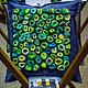 """Текстиль, ковры ручной работы. Ярмарка Мастеров - ручная работа. Купить Войлочная декоративная подушка """"Море рядом"""". Handmade. Зеленый"""