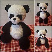 Мягкие игрушки ручной работы. Ярмарка Мастеров - ручная работа Вязаная Медвежонок Панда Игрушка с любовью своими руками. Handmade.