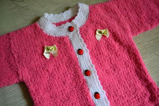 Одежда для девочек, ручной работы. Ярмарка Мастеров - ручная работа. Купить Комбинезон для малышки. Handmade. Розовый, комбинезон вязаный