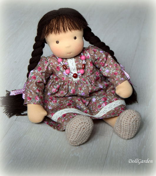 Вальдорфская игрушка ручной работы. Ярмарка Мастеров - ручная работа. Купить Ксюшенька, вальдорфская кукла. Handmade. Коричневый, подарок крестнице
