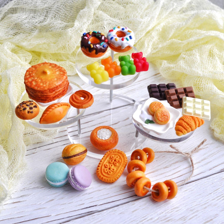 Сладкий набор миниатюрной еды из полимерной глины, Кукольная еда, Санкт-Петербург,  Фото №1