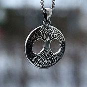 Украшения handmade. Livemaster - original item Pendant / Wardcraft Yggdrasil from jewelry steel. Handmade.