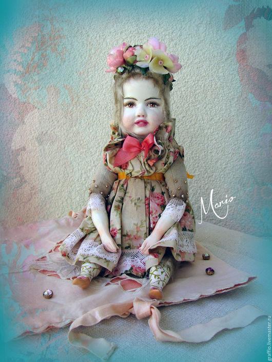 Коллекционные куклы ручной работы. Ярмарка Мастеров - ручная работа. Купить Тедди долл фея Март. Handmade. Кремовый