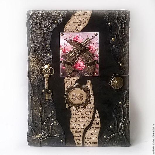 """Ежедневники ручной работы. Ярмарка Мастеров - ручная работа. Купить Стивен Кинг """"Темная башня"""" именной кожаный ежедневник натуральная кожа. Handmade."""
