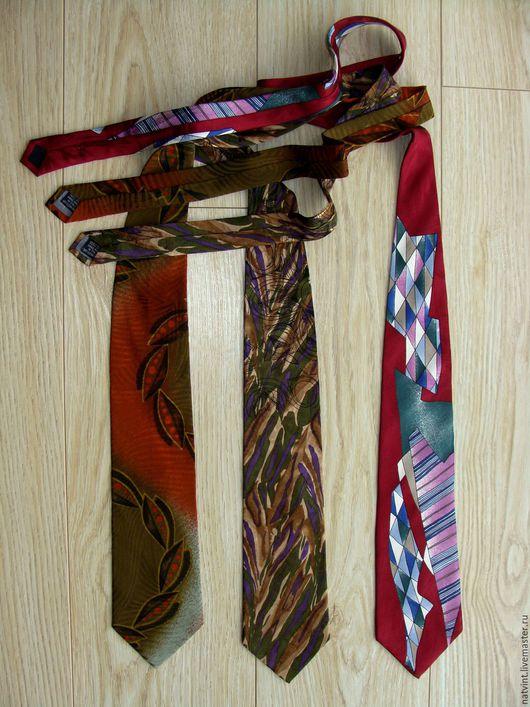 Винтажная одежда и аксессуары. Ярмарка Мастеров - ручная работа. Купить Итальянские мужские шелковые галстуки, ручная работа, винтаж. Handmade.