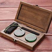 Сувениры и подарки handmade. Livemaster - original item Jade disks. Gift for him. DIO DISK. Handmade.