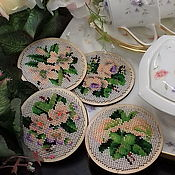 Для дома и интерьера handmade. Livemaster - original item Set of coasters for cups and glasses