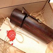 Сумки и аксессуары handmade. Livemaster - original item Leather Eyeglass case Hard case. Handmade.