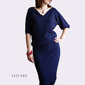 Одежда handmade. Livemaster - original item Dress MIDI casual blue. Handmade.