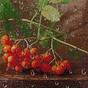 """Картины и панно ручной работы. Ярмарка Мастеров - ручная работа Вышитая картина """"Рябинка"""". Handmade."""