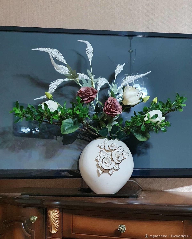 Композиция из искусственных цветов в вазе, Вазы, Астрахань,  Фото №1