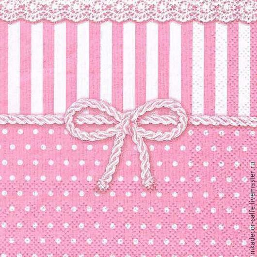 Декупаж и роспись ручной работы. Ярмарка Мастеров - ручная работа. Купить Бант розовый (12507952) 25х25 салфетка для декупажа. Handmade.