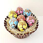 Подарки к праздникам ручной работы. Ярмарка Мастеров - ручная работа Свечи пасхальные резные - свечи яйца - пасхальный подарок - Пасха. Handmade.