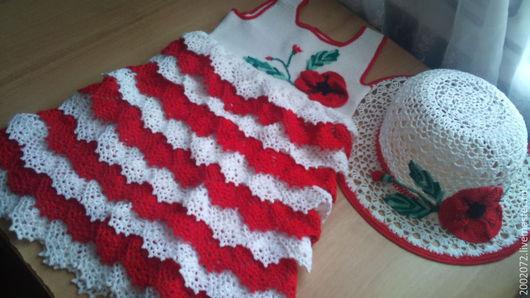 Одежда для девочек, ручной работы. Ярмарка Мастеров - ручная работа. Купить Платья и шляпки для девочки. Handmade. Платья, шляпки, девочек
