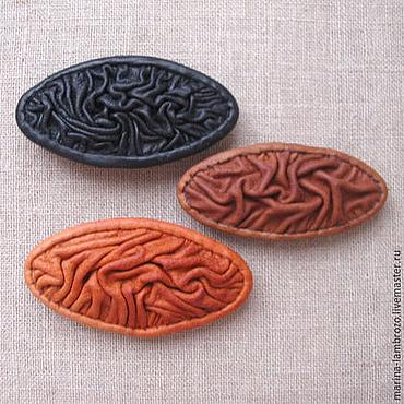 Украшения ручной работы. Ярмарка Мастеров - ручная работа Заколка для волос автомат из кожи. Handmade.
