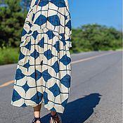 Одежда handmade. Livemaster - original item Women`s large size long dress. Handmade.
