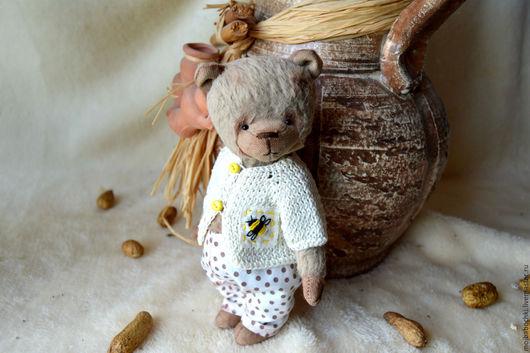 Мишки Тедди ручной работы. Ярмарка Мастеров - ручная работа. Купить Рома. Handmade. Комбинированный, тедди мишка, мальчик