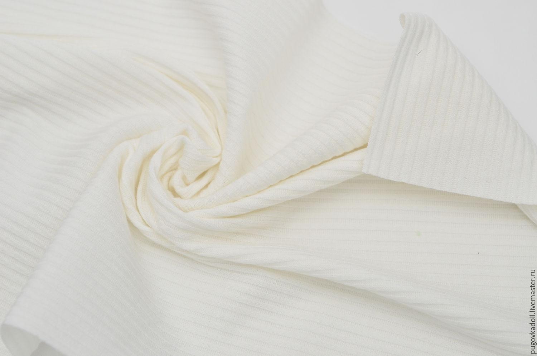 Ткань трикотаж Белый, Ткань, Москва, Фото №1