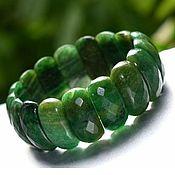 Украшения handmade. Livemaster - original item Bracelet African jade green with cut. Handmade.