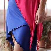 Одежда ручной работы. Ярмарка Мастеров - ручная работа Трикотажный пояс / мини юбка синий. Handmade.