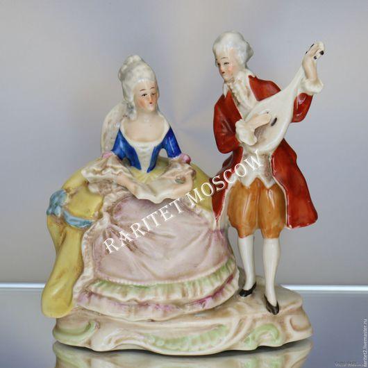 Винтажные предметы интерьера. Ярмарка Мастеров - ручная работа. Купить Пара кавалер с дамой Графенталь Германия 15. Handmade. Разноцветный