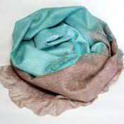 Аксессуары ручной работы. Ярмарка Мастеров - ручная работа шарф валяный Мятная конфетка. Handmade.