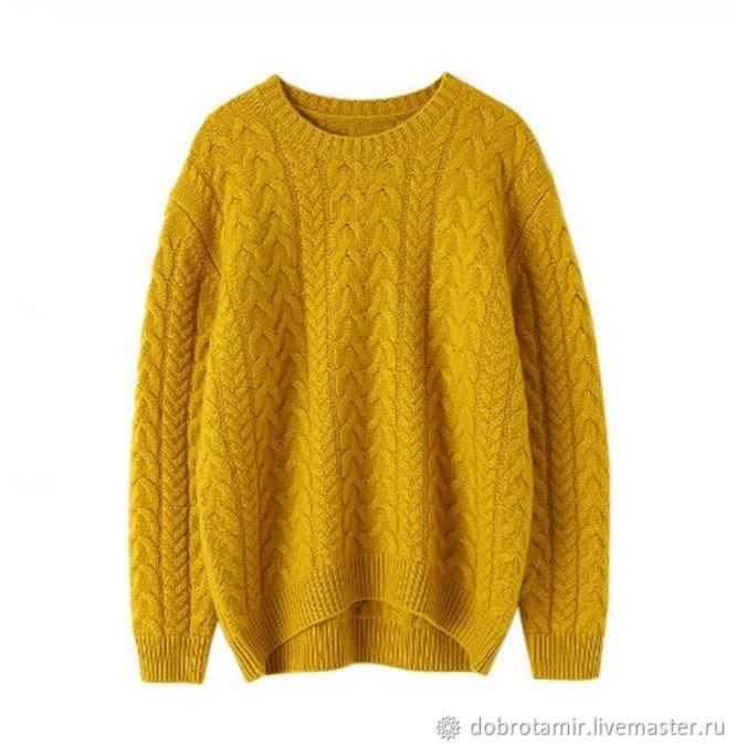 Jumper knitting braids - cashmere 100%, Jumpers, Ekaterinburg,  Фото №1